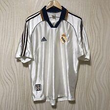 REAL MADRID 1998 1999 2000 HOME FOOTBALL SHIRT SOCCER JERSEY ADIDAS