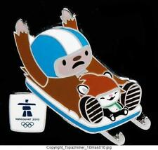 OLYMPIC PINS 2010 VANCOUVER CANADA MASCOTS Q/M LUGE