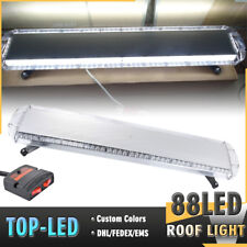 "88LED 47"" ROOF TOP CAR EMERGENCY WARNING BEACON RESPONSE STRBOE LIGHT BAR WHITE"