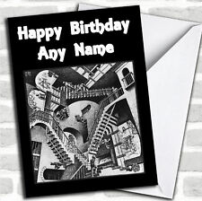 Optical Illusion Staircase Birthday Customised Card