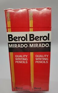 Vintage Berol Mirado 174-2 Medium Soft 6 Boxes = 72 Unsharpened Pencils