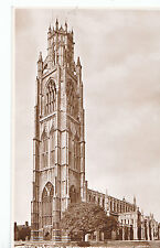 Lincolnshire Postcard - Botolph's Church - Boston from S.W. Real Photo  ZZ3282