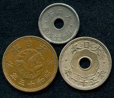 A Set of 6 Pieces Japan 5 10 Sen 1938-1940 Japanese Showa Emperor Year 13-15