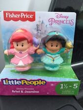 New Fisher Price Little People Disney Princess Ariel Jasmine Lamp Shell Castle
