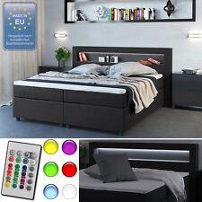 Design Boxspringbett 180x200 cm H2 LED Doppelbett Hotelbett Ehebett anthrazit