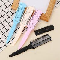 1 Pc Barber Scissor Hair Cut Styling Razor Magic Blade Comb Hairdressing Tool