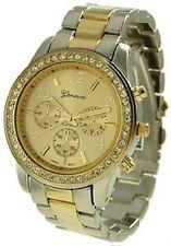 Geneva Stainless Steel Case Women's Wristwatches