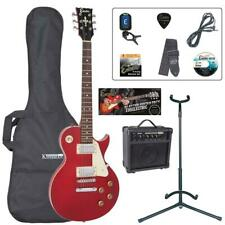 More details for encore electric guitar outfit - wine red