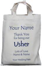 PERSONALISED - USHER - WEDDING GIFT BAG Cotton Present