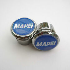Vintage Style MAPEI Chrome Racing Bar Plugs, Caps, Repro