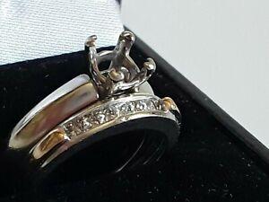 Set of 2 14k  Engagement Setting Ring For 0.90    Square Diamond +Wedding Band .