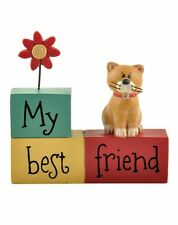Cute Cat My Best Friend Plaque Sign Table Desk Decoration Cat Lovers Little Gift