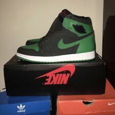 Air Jordan 1 Retro High OG Pine Green Size 10 US Men's 555088-030 Gym Red DS