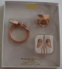 SARINA iPhone Accessory Set, Earbuds, Ring Stand and USB to Lightning Cable New