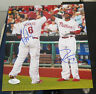 RYAN HOWARD DOMINIC BROWN PHILADELPHIA PHILLIES SIGNED AUTOGRAPHED 8X10 PHOTO