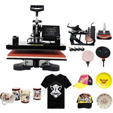 5IN1 1000W Termopressa Pressa a Caldo Printing Transfer T-Shirt Mug Hat Plate