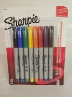 Sharpie 37600PP Permanent Markers, Ultra Fine Point, Classic Colors, 8 Count