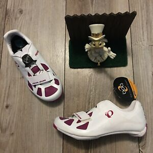 PEARL IZUMI All Road 4 Womens cycling Shoes White Purple 6.5 / 37 New $165