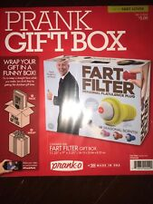 Prank Pack Fart Filter Wrap Your Real Gift in a Funny Gag Joke Gift Box