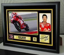 "Nicky Hayden x2 Tributes Framed Canvas Print Signed Limited Edition ""Great Gift"""
