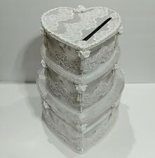 3 Tier Cake Wedding Card Money Box Gift Card Memory Reception Box Party