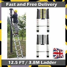 12.5ft Multi-purpose Foldable Telescopic Style Climb Ladder Safe and Compact
