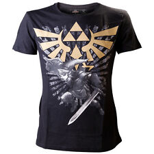 LEGEND OF ZELDA - oro a catenella LOGO - T-shirt - Grande - Nero