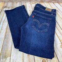 Levi's 524 Too Superlow Juniors Size 5 M Blue Jeans Denim Pants Stretch 29x30