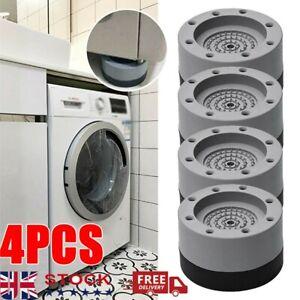 4X Anti Vibration Pads Anti slip Washing Machine Feet No-slip Noise Reducing Mat