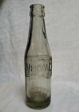 Ver-Vac Soda Bottle 6.5 oz Guiseppe Pio & Co Portland Me Smoke Gray c. 1915 Vguc