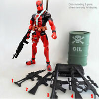 5pcs Weapon Guns For 6'' Marvel Avengers Deadpool Crossbones Figure Accessories