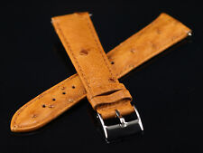 SWI Genuine Ostrich 20mm Watch Strap By Hadley Roma -Fits Invicta - Matte Cognac