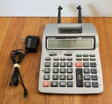 Casio HR-100TM Printing Calculator Tax & Exchange 12 Digits w/ Ac Adapter