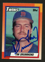 Tim Drummond #713 signed autograph auto 1990 Topps Baseball Trading Card