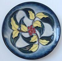 1997 Moorcroft 16cm Classic Large Dish Small Plate Leaf & Berries WM Initial