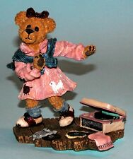 "Boyds Bears resin figure ""Bailey.Swing Time"" #227756 Nib 2000, dance music"