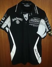 A312 JACK DANIELS RACING  polo style T Shirt, black, size S