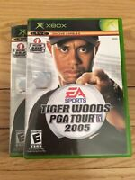 EA SPORTS TIGER WOODS PGA TOUR 2005 - XBOX - COMPLETE WITH MANUAL - FREE S/H (Y)