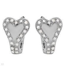 0.76ctw Cubic zirconia Heart Earrings With