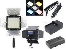 YongNuo YN-160 II LED Video Light Camera DV+4400mah Battery + Car Wall Charger