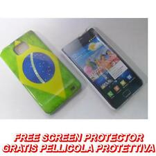 Pellicola + custodia BACK COVER FLAG BRASILE per Samsung I9100 Galaxy S2 I9105