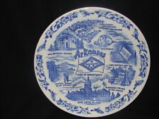 Vintage Blue Souvenir Advertising Arkansas State Plate