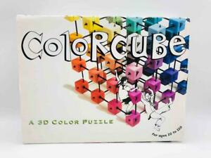 Rare, HTF ColorCube 3D Color Puzzle Art Science Harmony Building Cube Game 1998