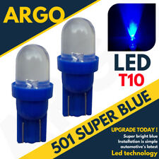 501 Blue Led Interior Bulbs Ice Xenon T10 W5w 194 Wedge Lamp Car Side Light 12v