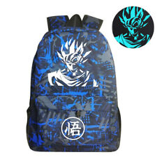 Dragon Ball Z School Backpack Travel Outdoor Bags - Luminous Blue / Gray / Black