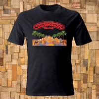 Casablanca Record Logo Men's Black T-shirt Size S-3XL