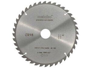 Metabo 628065000 216mm x 30mm x 40T Circular Saw Cutting Blade