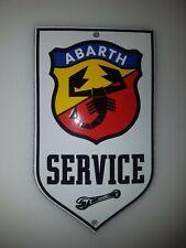 ABARTH SERVICE SIGN PORCELAIN ENAMEL EMAILLE! 15x9 cm! CLASSIC DESIGN!