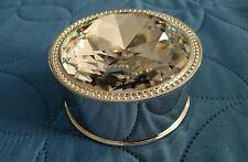 Chrome Diamond Top Jewlery Round Box