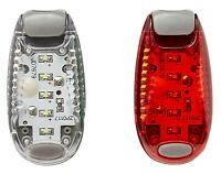 1 White 1 Red LED Safety Light Night Clip On Flashing Running Cycling Bike Pet